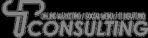 TP Consulting Logo Grau + Schrift 300x78