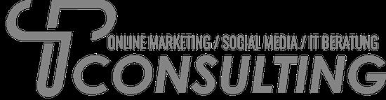 TP Consulting Logo Grau + Schrift 550x143